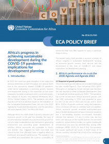 Africa's progress in achieving sustainable development during the COVID-19 pandemic: implications for development planning