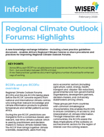 Regional Climate Outlook Forums Highlights