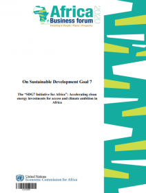 """The """"SDG7 Initiative for Africa"""": Accelerating clean energy investments for access and climate ambition in Africa"""
