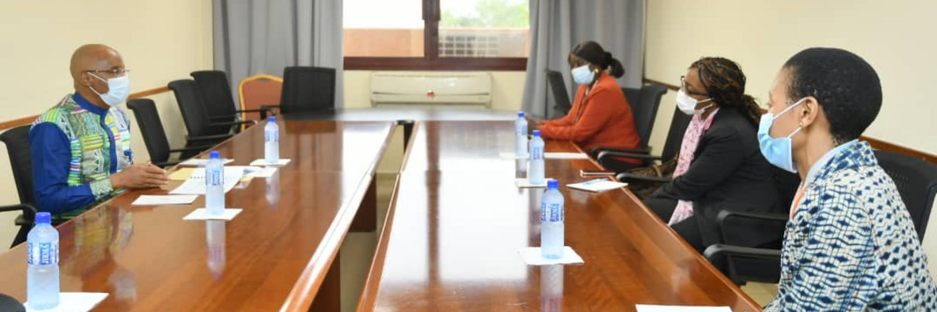 Official visit of the Under Secretary-General of the United Nations and  Executive Secretary of ECA, Vera Songwe, to Burkina Faso