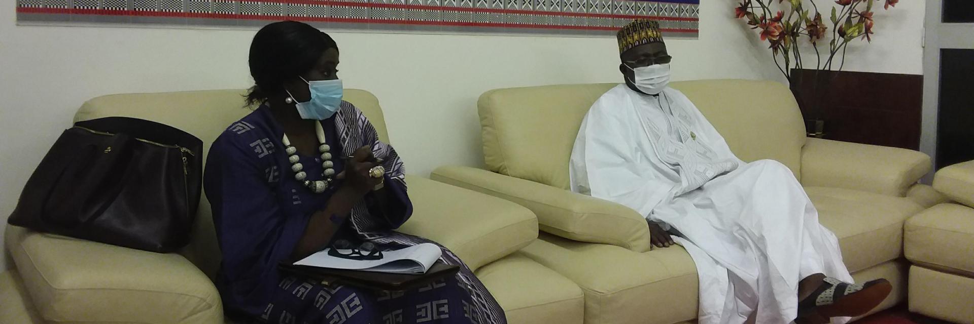Rencontre entre la Directrice de la CEA en Afrique de l'Ouest et le 3eme Vice-Président de l'Assemblée Nationale du Niger : La promotion de l'utilisation des TIC dans l'espace CEDEAO au centre des discussions